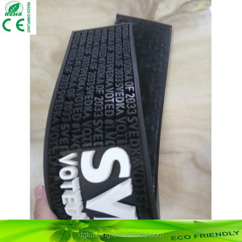advertising logo PVC bar counter mat with factory price,promotion 3D embossing logo PVC bar runner anti slip rubber mat