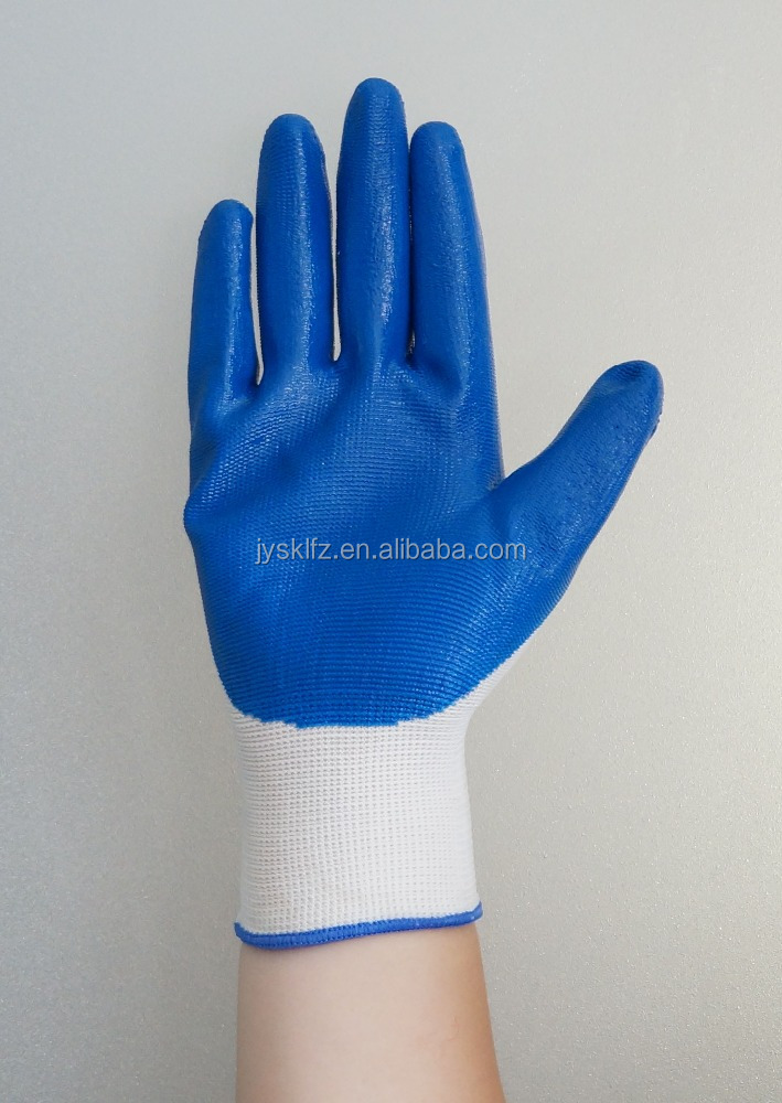 Hot sale nitrile working gloves protective anti-oil working gloves nitrile safety gloves manufacture in china