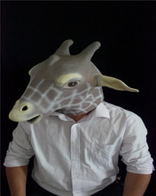Traditionnel japonais <span class=keywords><strong>masque</strong></span> créatif hommes fête d'halloween cosplay costume d'animal <span class=keywords><strong>masque</strong></span> girafe cerf Sika plein visage <span class=keywords><strong>masque</strong></span> en latex