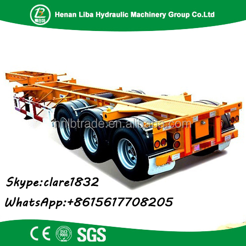 Vitenam Market 3 Axles 40 Ton 20Ft/40Ft Frame With Twist Locks Skeleton Container Semi Trailer Chassis