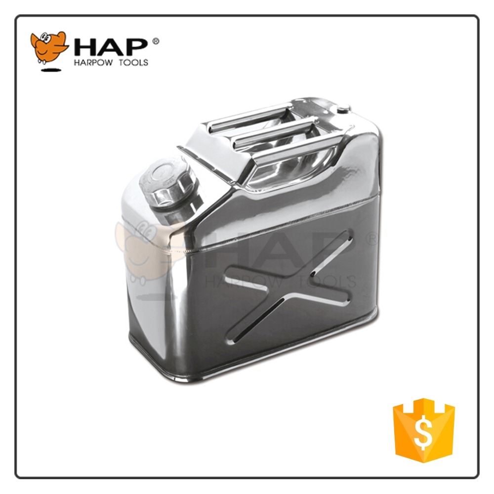 10L Stainless steel jerry can oil can oil canister for car