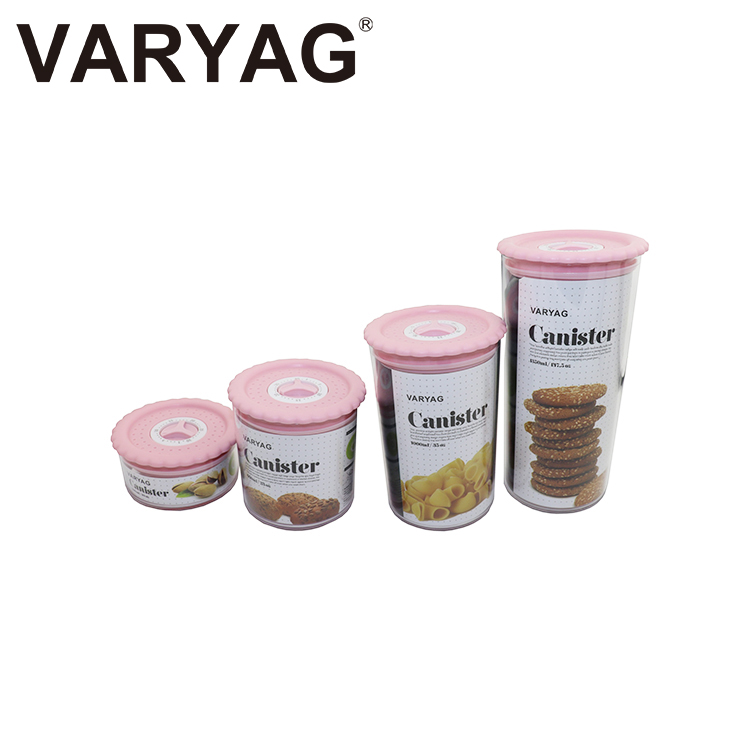 VARYAG Widely use safe silicone cookie spice tea leaf nuts cereal storage plastic cookies food <strong>container</strong>