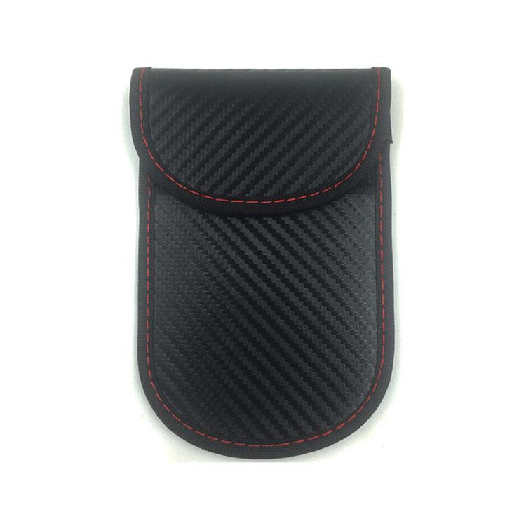 탄소 섬유 블랙 자동차 키 신호 차단기 케이스 열쇠가없는 항목 방해기 안전 Rfid 신호 차단 가방