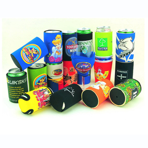 Custom neoprene stainless steel spring can cooler foldable can cooler for promotional use