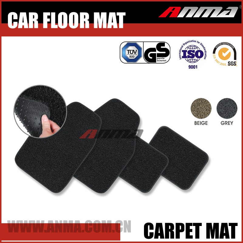 New design wholesale universal 3D car camo eva tpr rubber carpet floor pvc coil trunk foot mat in roll with heel pad and clips
