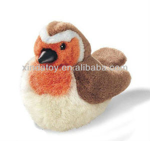 robin with real calls soft plush toys