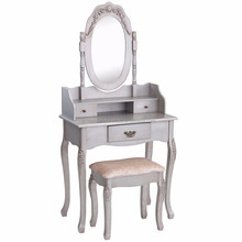 Modern bedroom furniture wood acrylic dressing table with hand-painted