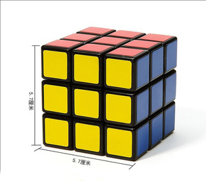 5.65cm puzzle plastic 3x3 magic cube for promotional advertising gifts kids education toys