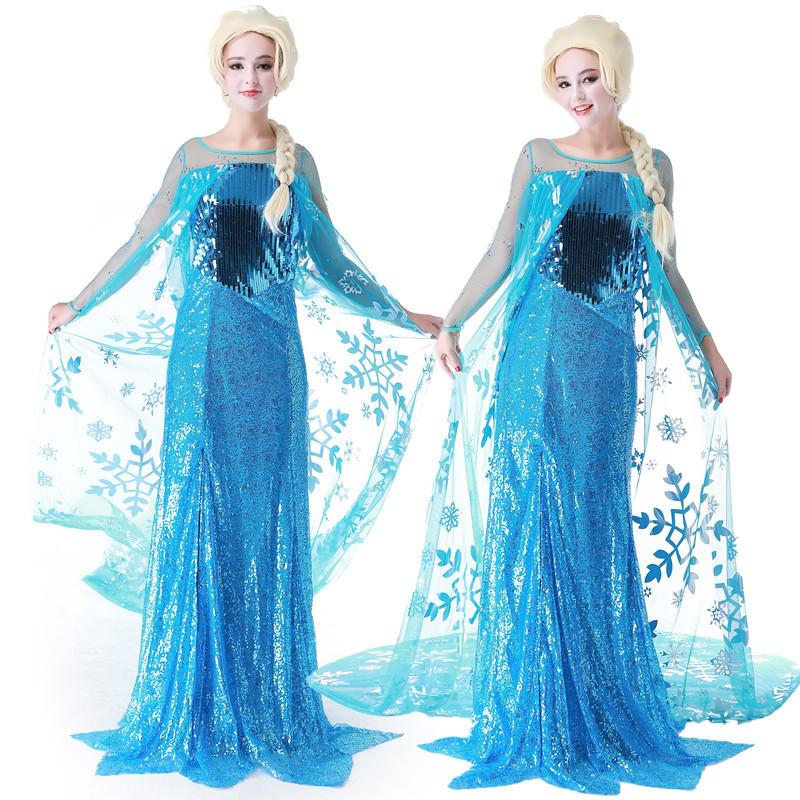 Get Quotations Ice Colors Elsa Queen Princess Dress Aisha Cos Clothing Exotic Dresses Free