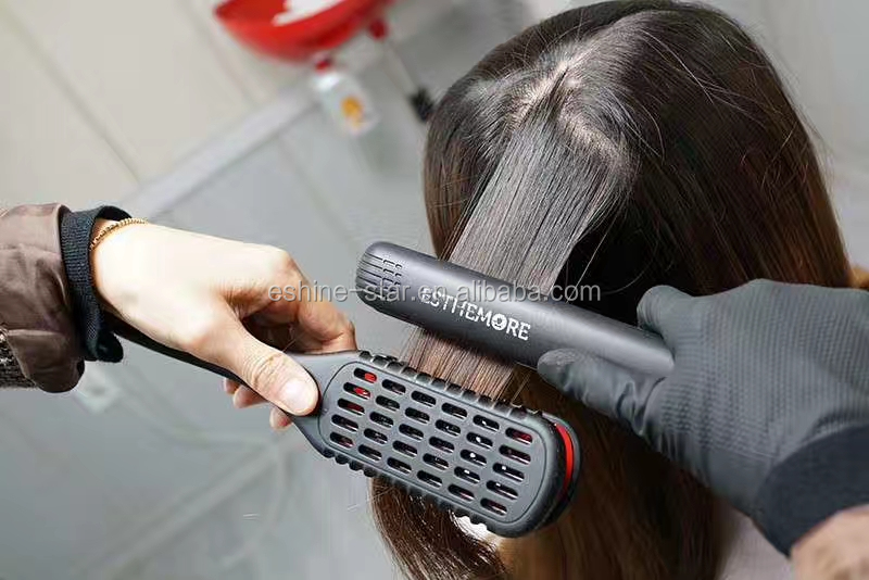Professional Straightening Ceramic Plates with Boar Bristle