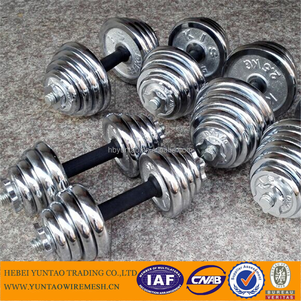 good quality gym accessories electroplating dumbell