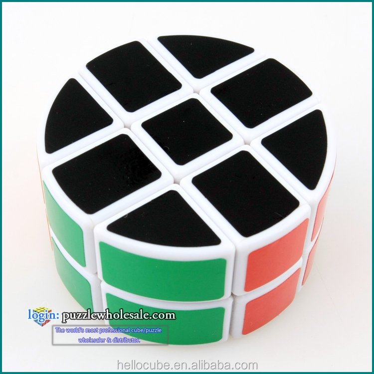 Lanlan cylinder 3x3x2 cube White newest fashion cubos magicos puzzlesEducational Toy Style puzzle cube