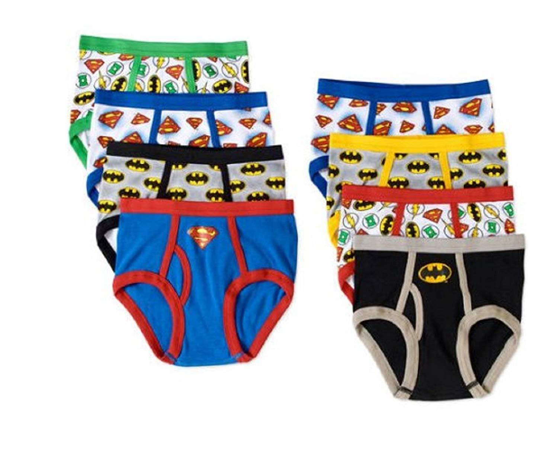6ebc351eb49 Get Quotations · Justice League Boys 8 pack Briefs Underwear - Batman Flash  Superman