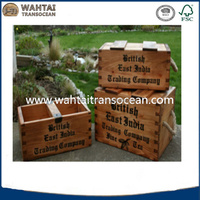 Handmade craftsman,factory directsell,wooden dovatailed storage trug/boxes stained waxed wholesale,darnhouse decor