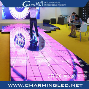 Party supplies night club accessories interlocking led dance floor tile light sale