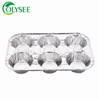 Durable heavy duty aluminum foil 4 to 6 cavity cake pan cake disposable container line muffin pans egg tray