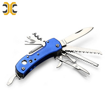 Stainless steel multi tool camping pocket folding knife