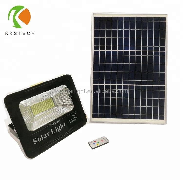 Factory Customized Lamp Fitting Iron LED SpotLighting Cover Solar Flood Light With Panel