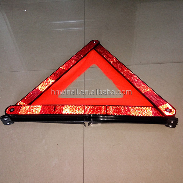 triangle car emergency warning collapsible sign