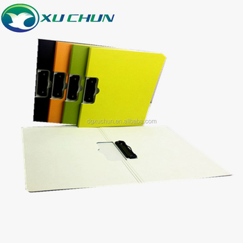 Multicolor A4 plastic clip board portable file clipboard with Cute writing pad for gift office supplies/ stationery