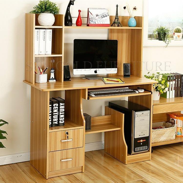Modern Cheap Price Kids Study Table With Home Office Wood Reading Desk  Bookshelf(SZ