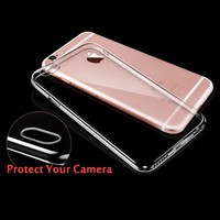Ultra Thin Soft TPU Gel Original Transparent Case For iphone 6/6s 6/6s plus Crystal Clear Silicon Back Cover Phone case
