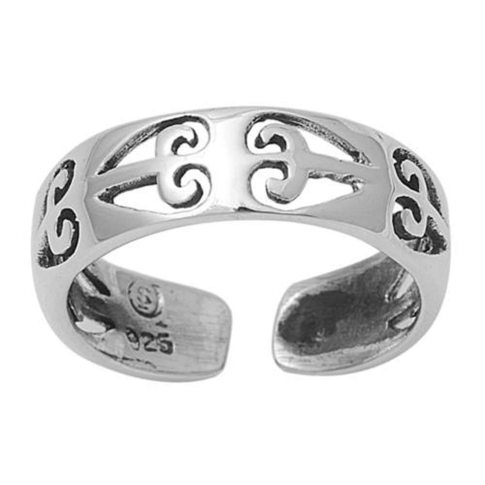 CloseoutWarehouse Sterling Silver Designer Filigree Knuckle/Toe Ring