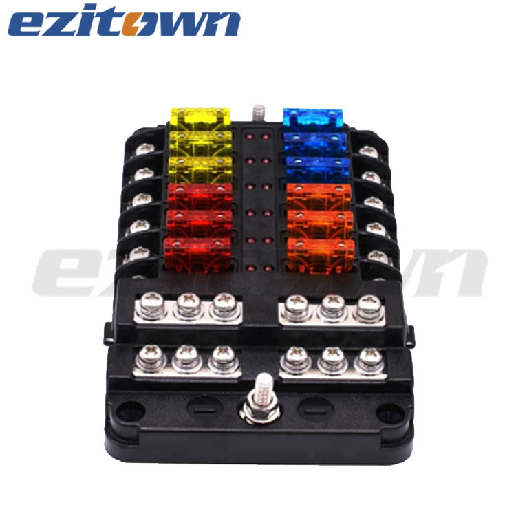rv fuse box covers ezitown 12 way blade fuse box block for automotive car boat yacht  ezitown 12 way blade fuse box block for