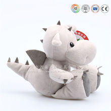 Cute baby plush purple dragon stuffed toy