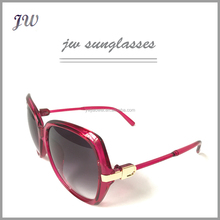 Hot selling cheap premium red pink ladies sunglasses with low price