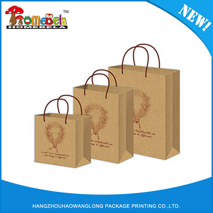 Good quality sell well manufacturers cheap wholsale recycle craft brown paper kraft bag