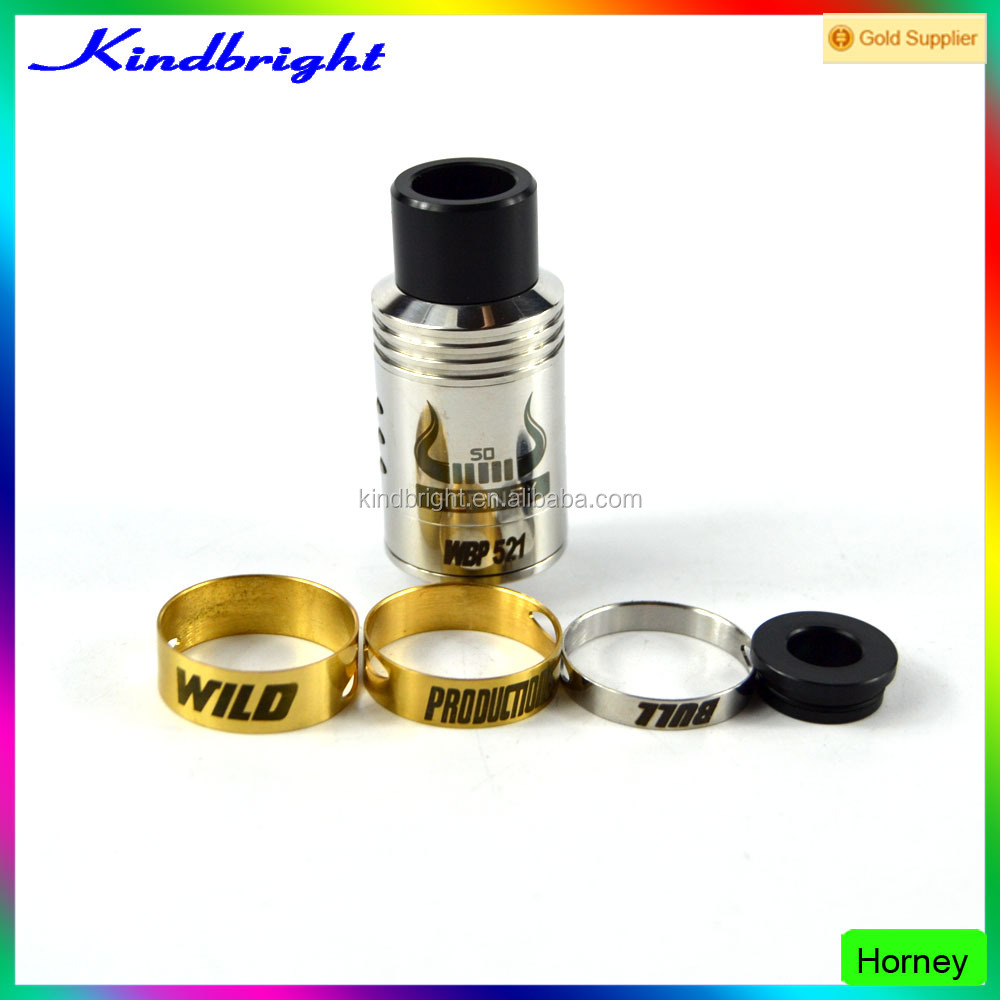 Kindbright supply Newest Release Triple Coil Builds So Horney RDA by Wild Bull RDA Atomizer