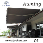Aluminum retractable fireproof fabric awnings