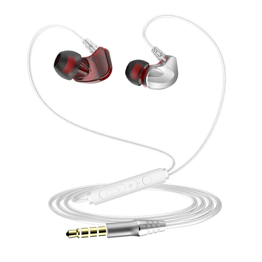 echoMi 1pcs in-Ear Headphones,Quad-core Double-Action Subwoofer Headphones Sports
