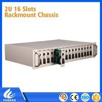 OEM Factory provide 2U 16 slots 16 port fiber media converter