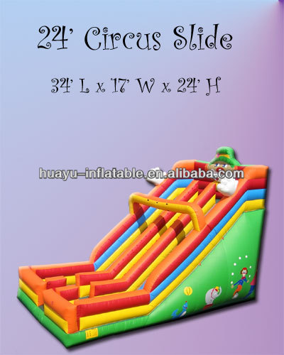 34'L x 17'W x 24'H 24' Circus Slide Inflatable Slide For Christmas Fun Party Festival Days