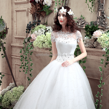 2016 New Style European Fashionable See Through Bridal Gown Lace Wedding Dress