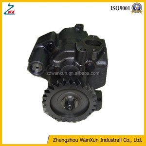 bulldozer D355A-5 machine engine S6D155-4 oil pump:6128-52-1013
