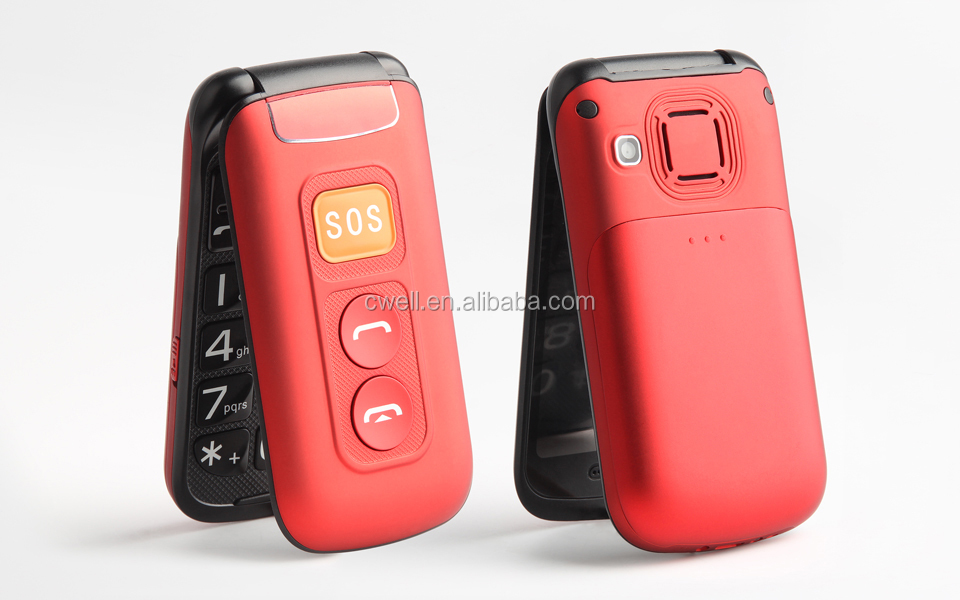 Wholesale 2.4 Inch Screen SOS Button Folding Mobile Phone