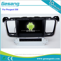 8 core Android 6.0 touch screen car dvd player for Peugeot 508 with 2g ram