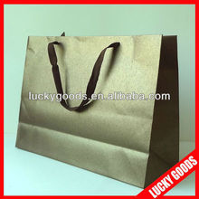 New product kraft brown paper carrier bags wholesale