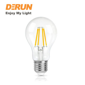 A60 6W LED Edison Bulb Globe LED Light Bulbs Filament LED Bulbs 600lm 4000K Frosted Glass Cover , FMT-A60