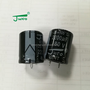 1000uf 200v capacitor JWCO rohs certification non polar electrolytic capacitors