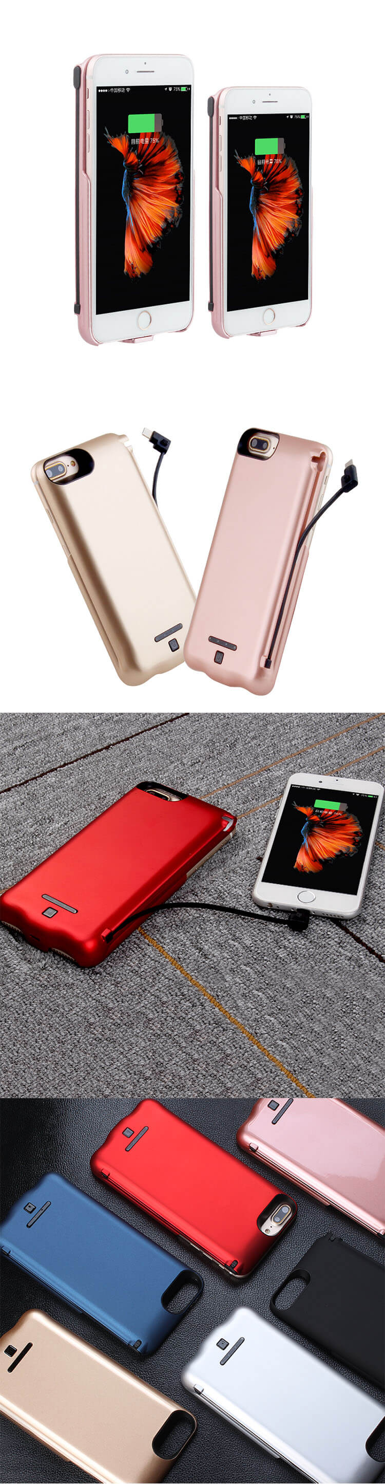 Promotional Price Gift Type C Portable Battery Power Bank Case For Iphone