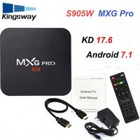 2018 most popular Mxg pro 4k android tv box with best quality and low price