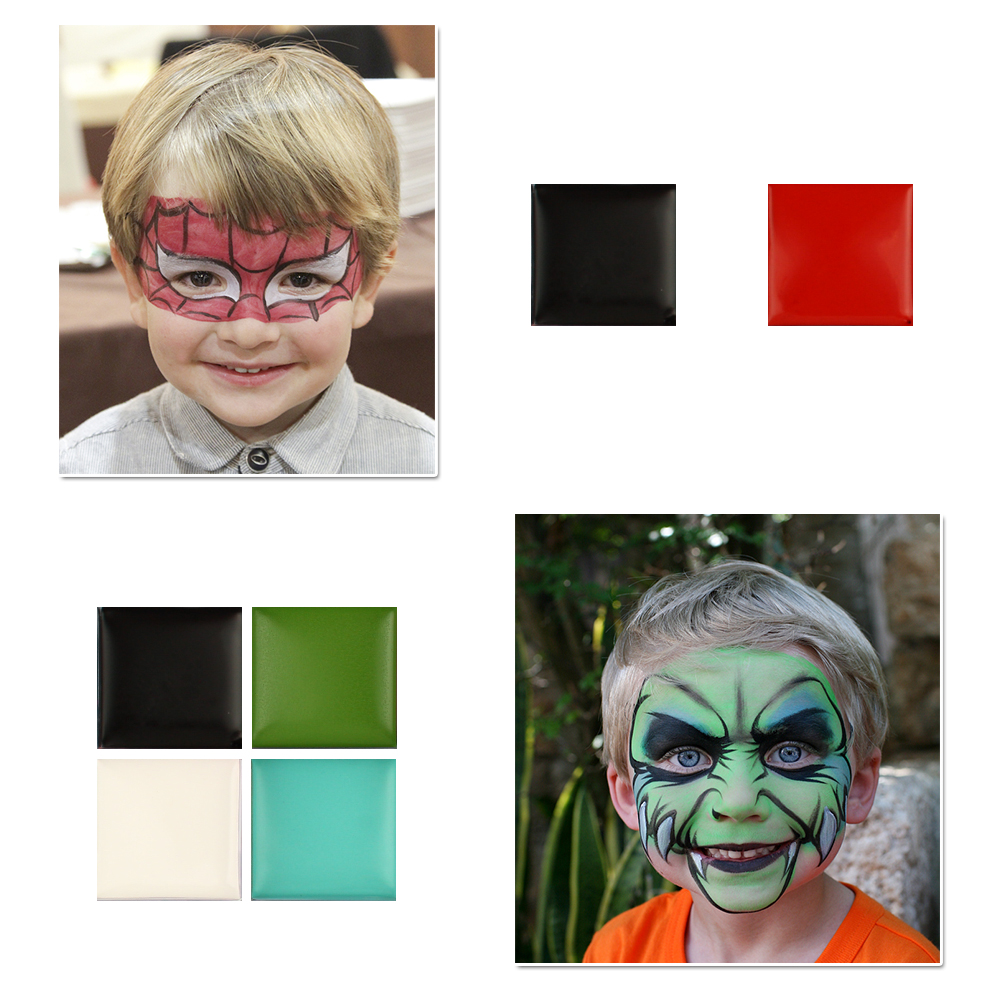 12 kleuren Art Halloween Party Fancy Dress Party Fancy Make-Up Gezicht Lichaam Verf Kit Olieverf Make-Up