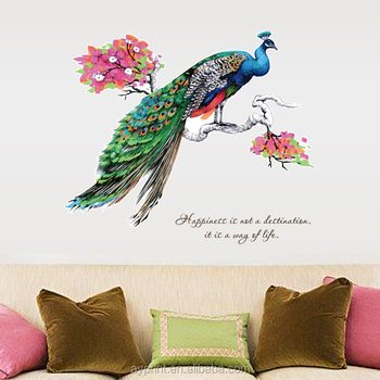 Sk9153 Modern Wall Sticker Pea Decorative Eco Friendly Pvc Figure Animal Diy Removable