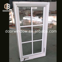 Aluminium window panel material top hung window