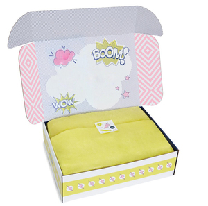 Foldable Corrugated Custom Printed Kids Wear Subscription Gift Packaging Box
