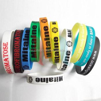 Custom Rubber Band Bracelets Unbreakable Elastic Silicone